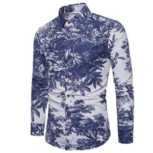 Spring Autumn Men Casual Shirts Fashion Long Sleeve Brand Button-Up Formalmodkily-modkily