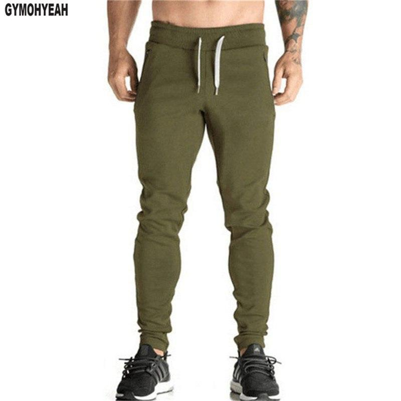 Brand Men cotton Pure color no LOGO Casual Pants Slim Fitmodkily-modkily