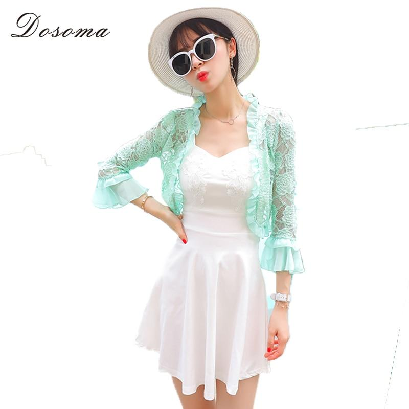 Women Lace Hollow Short Sleeve Cardigans 2018 Summer Short Lace Shawl Casualmodkily-modkily