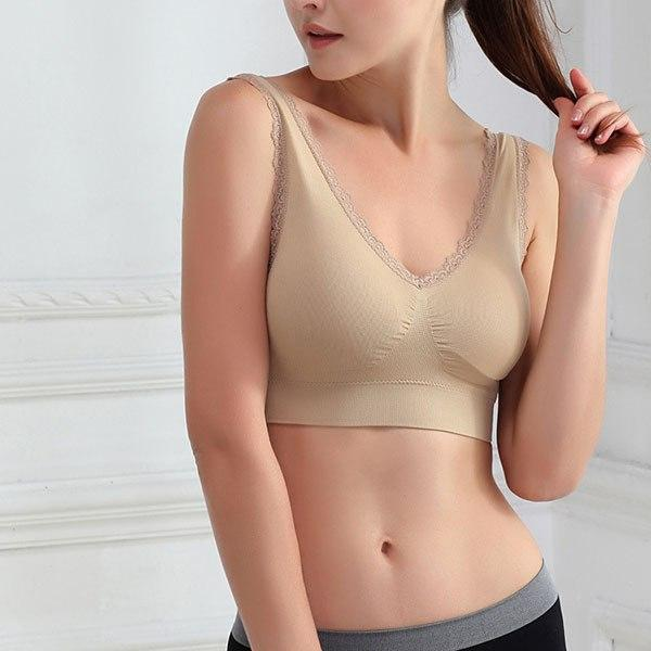 Breathable Women Seamless Fitness Lace Bra Tops Underwear Shakeproof Tank topsmodkily-modkily