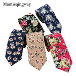 Gold Navy Blue Men Neck Ties for Adults Gentlemen Flower Dotsmodkily-modkily