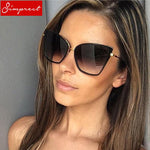 2018 Retro Cat Eye Sunglasses Women Metal Frame Mirror UV400 Sunmodkily-modkily