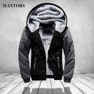 Winter Warm Jacket Men Hooded Casual Wool Thickened Sweatshirts Coat Zipper Cardiganmodkily-modkily