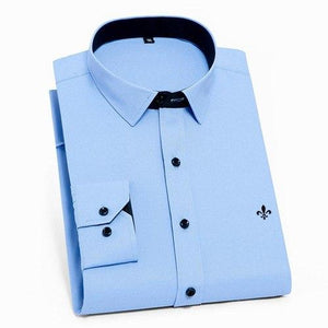 2018 Men Shirt Without Pocket Long Sleeved Classical Male Shirts Formalmodkily-modkily