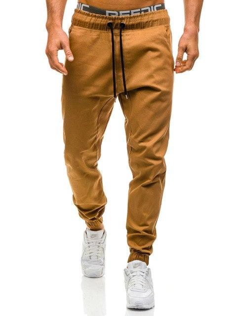 Brand Men's Pants 2018 New Fashion Slim Solid Color Elasticity Menmodkily-modkily