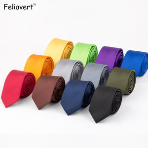 Fashion Solid Mens Ties Neckties Classic 6cm Skinny Tie Gravatas For Weddingmodkily-modkily