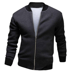 Cool College Baseball Jacket Men 2018 Fashion Design Black Pu Leather Sleevemodkily-modkily