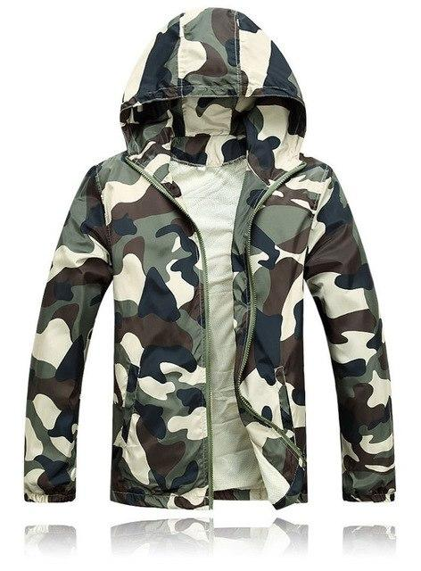 2018 Hot Sale Mens Outwear Thin Jackets Coats Fashion Camouflage Jacket Summermodkily-modkily