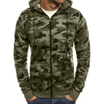 2018 New Hoodie Men Camouflage Printing Flannel Hip Hop Sweatshirt Fashion Mensmodkily-modkily