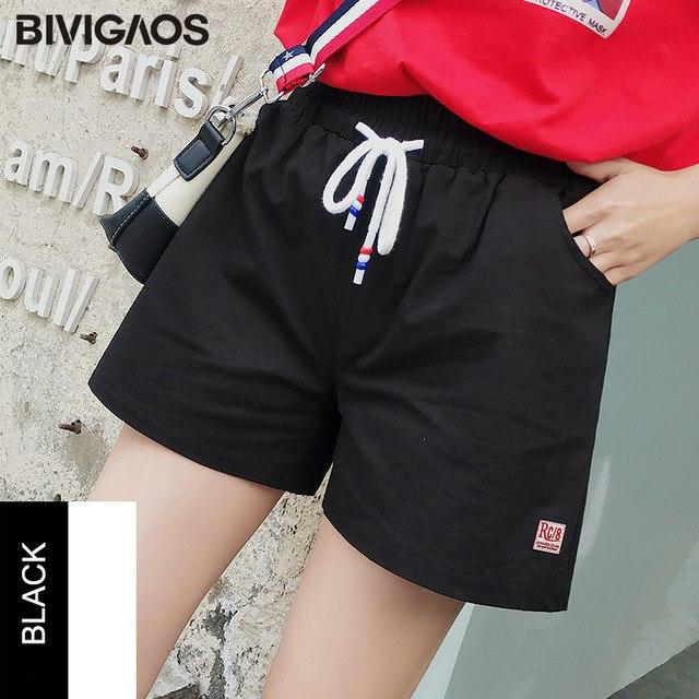 2018 Summer New Womens Small Fresh Cotton Linen Shorts Loose Casualmodkily-modkily