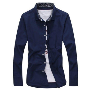 New Arrived 2017 Fashion Mens Shirts Long Sleeve Solid Casual Shirt 6Colorsmodkily-modkily