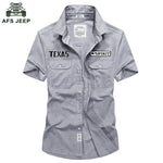 2018 Brand Shirt Men Casual Pure Cotton Mens Summer Shirts Short Sleevesmodkily-modkily
