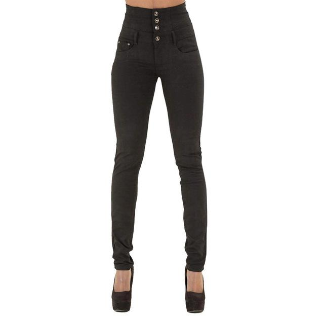 New Woman Denim Pencil Pants Brand Stretch High Waist Black Jeansmodkily-modkily