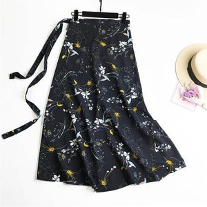 2018 Summer Womens Casual Floral Long Maxi Female High Waist Lace Upmodkily-modkily