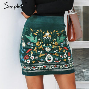 Simplee Vintage high waist skirts womens bottom Short boho style chic pencilmodkily-modkily