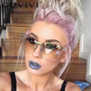 Hot Fashion Brand designer sunglasses women Summer Rimless Square Shades Sun glassesmodkily-modkily