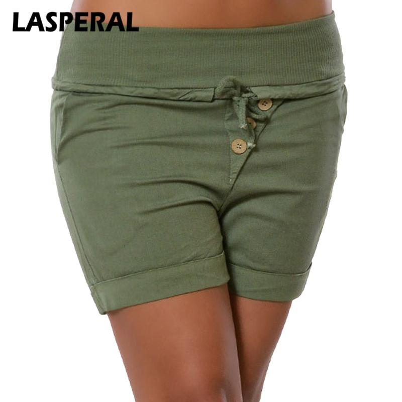 Women Plus Size 5XL Shorts Fashion Lace Up Short Bottoms Summer Buttonmodkily-modkily