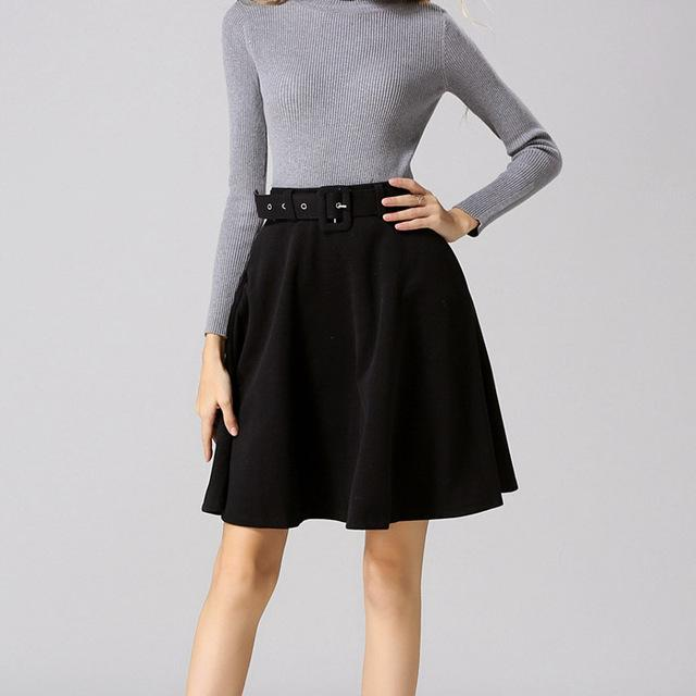 2018 Women Skirt Fashion Autumn Winter Wool Skirt For Women Highmodkily-modkily