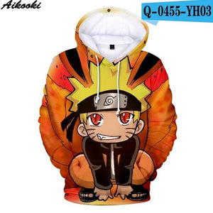 Aikooki Hot Anime Naruto Hoodies Men Women Winter pullovers 3D Hooded Oversizedmodkily-modkily