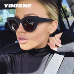 YOOSKE Vintage Cat Eye Sunglasses Women Trend Ladies Outdoor Personality Sun Glassesmodkily-modkily