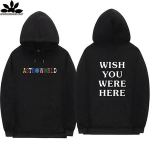 Travis Scott Astroworld WISH YOU WERE HERE hoodies fashion letter print Hoodiemodkily-modkily