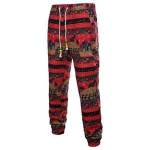 linen pants men Floral Printed Pants Fashion Men Joggers Trousers Casualmodkily-modkily