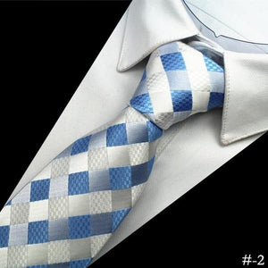 New Design Quality 100% Silk Mens Tie 8cm Plaid&Striped Neck Tiesmodkily-modkily