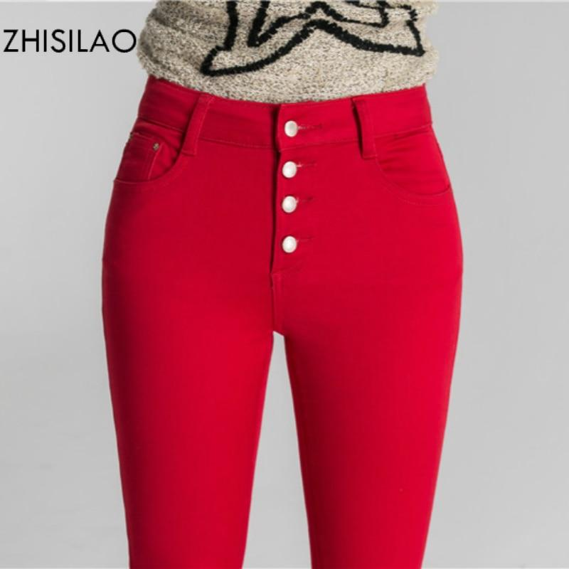 ZHISILAO 2018 Woman Jeans Skinny Jeans Denim Pants Pencil Pants Womanmodkily-modkily