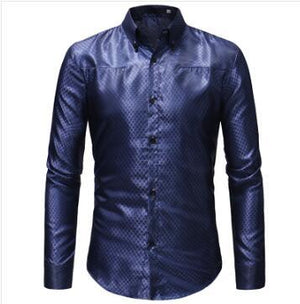 2018 Men's Fashion Casual Long Sleeve Plaid Shirt Slim Men's Social Businessmodkily-modkily