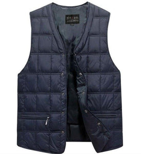 Man Autumn Solid Loose V-neck Sleeveless Vests Male Winer Cardigan Straight Singlemodkily-modkily