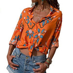 Women Sexy Blouses Summer Casual Hollow Chiffon Short Sleeve Splice Lacemodkily-modkily