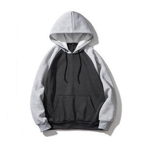 Hoodies Men Thick Hooded Patchwork Sweatshirts Long Sleeve Chandal Hombre Mensmodkily-modkily