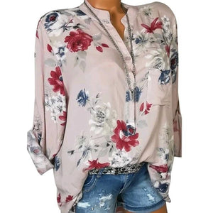 Womens Tops And Blouses 2018 Spring Autumn Turn Down Collar Buttonmodkily-modkily