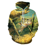 Hot Sale Fish Hoodies 3D Hoodies Sweatshirts Men 3d Pullover Funny Printmodkily-modkily