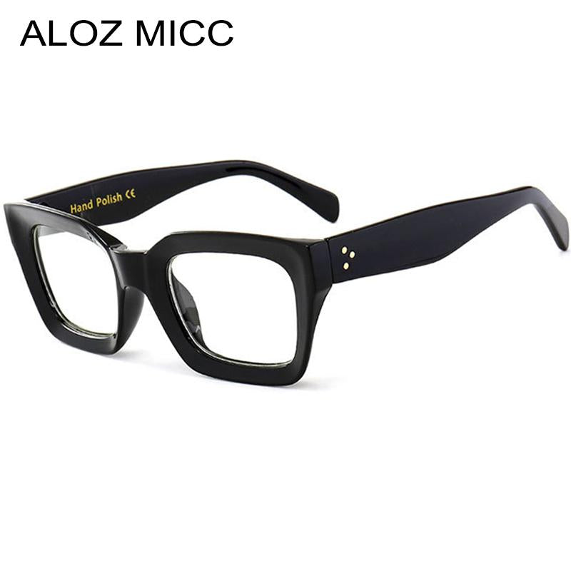 ALOZ MICC Black Frame Square Transparent Glasses Women Retro Acetate Men Eyeglassesmodkily-modkily