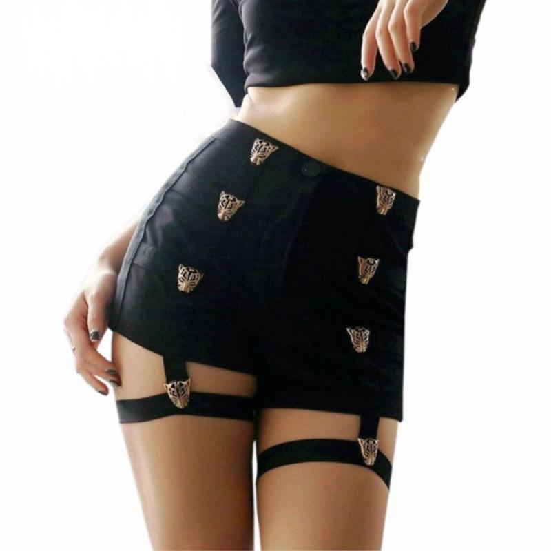 2018 Summer Sexy Ladies High Waist Punk Rock Bandage Hollow Out Dancemodkily-modkily