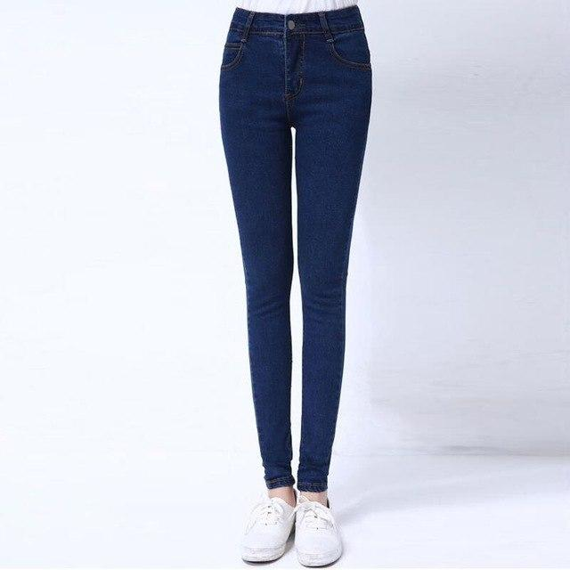 2018 Autumn And Winter Denim Pencil Pants Casual Basic Plus Sizemodkily-modkily