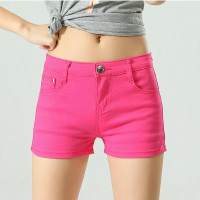 2018 Summer Women Shorts Fashion Mid Waist Stretch Denim Slim Shorts Brandmodkily-modkily