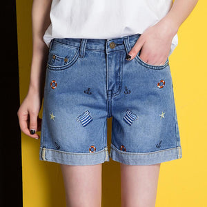 2018 New Women's Jeans High Waist Denim Shorts Slimmodkily-modkily