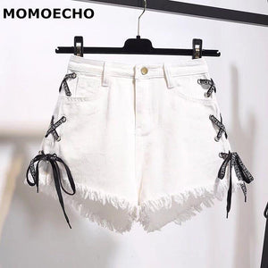 MOMOECHO 2018 Summer S-6XL Plus Size Sexy Blue Denim Hot Shorts Womenmodkily-modkily