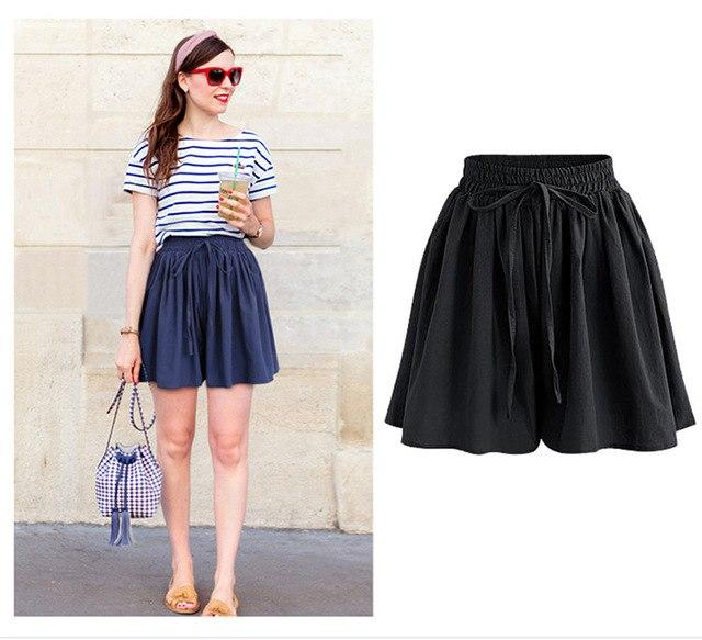 Summer Wide Leg Shorts Women Casual Loose High waist Female Short pantsmodkily-modkily