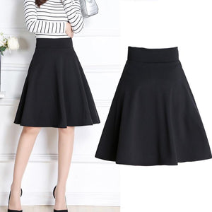 2016 New Fashion Vintage Womens Pleated Skirts High Waist Midi Skirt Girlmodkily-modkily