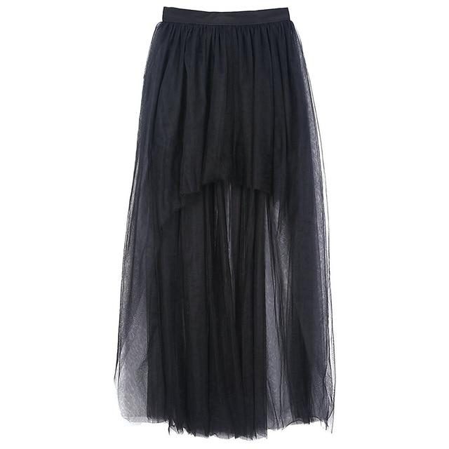 2018 New Summer Fashion 3 Layers Tulle Black Short Front Long Backmodkily-modkily