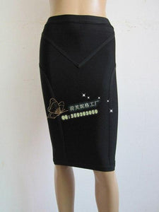 wholesale New High quality Stretch Knit Skirt Fashion casual With Bandage skirtmodkily-modkily