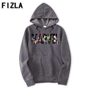New Brand Marvel Hoodies men high quality Long sleeves Casual menmodkily-modkily