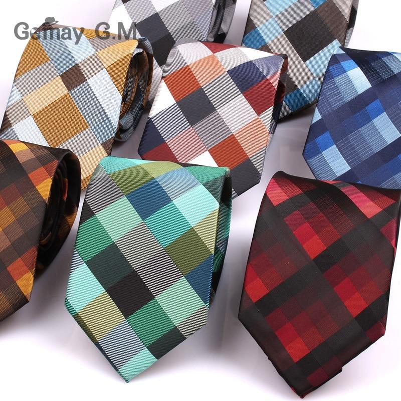 New Jacquard Woven Neck Tie For Men Classic Check Ties Fashion Polyestermodkily-modkily