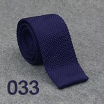 HUISHI Slim fashion Knitted ties for men 5.5 cm solid Blue Redmodkily-modkily