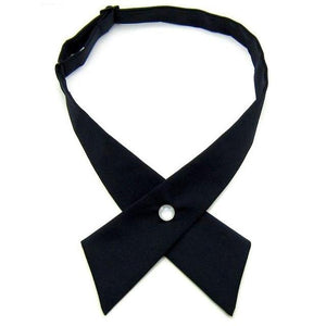 Casual Formal Solid Color Adult Mens Womens Adjustable Necktie Cross Bowmodkily-modkily