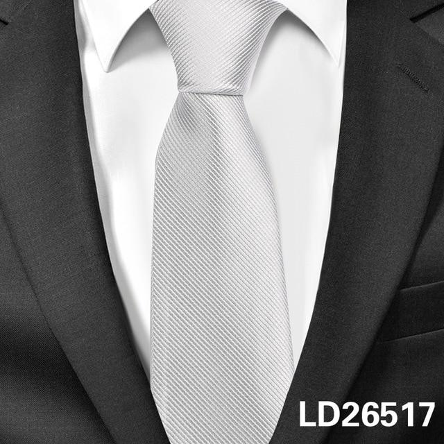 New Classic Solid Ties for Men Casual Skinny Neck Tie Gravatas Businessmodkily-modkily