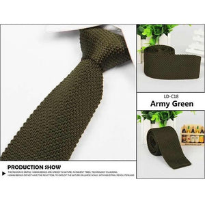 2017 Fashion Mens Solid Casual Tie Knit Knitted Tie Necktie Narrow Slimmodkily-modkily